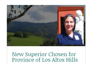 Sister Julie Kubasak, D.C. has been named Provincial Superior of the Daughters of Charity - Province of Los Altos Hills.